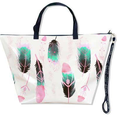 Grand Sac de voyage, sac week end Plumes multicolores SW6000-2019