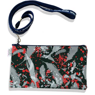 Pochette smartphone 5 & 6 pouces femme Plumes grises PS6025