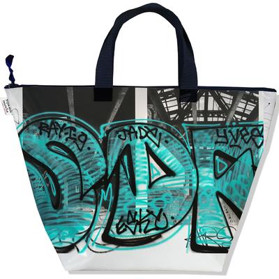 Sac à main zippé pour femme Street art SM6020