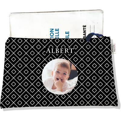 Protège carnet de santé personnalisé zippé pour bébé garçon motif Graphique