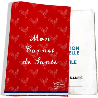 Protège carnet de santé Rouge Collection Française