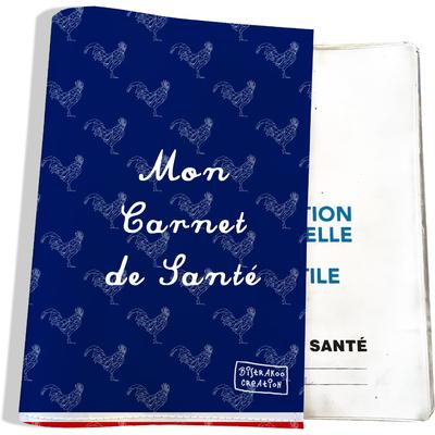 Protège carnet de santé Bleu marine Collection Française
