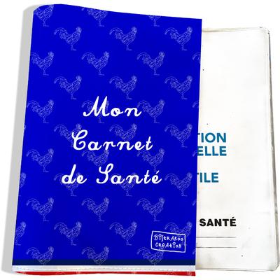 Protège carnet de santé Bleu Collection Française