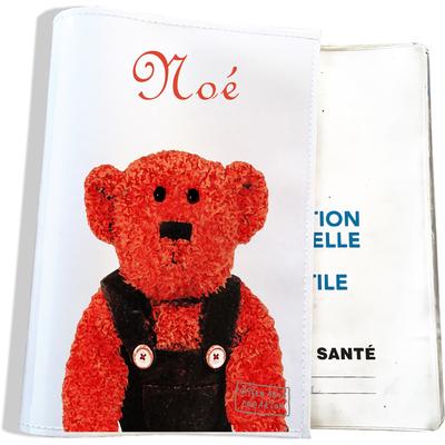 Protège carnet de santé personnalisable bébé garçon enfant motif Ours PC6073-2019