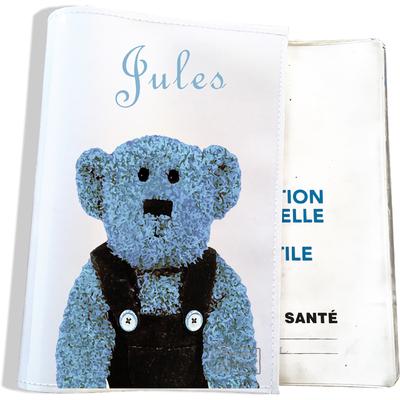 Protège carnet de santé personnalisable bébé garçon enfant motif Ours PC6074-2019