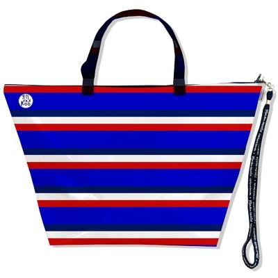 Grand Sac de voyage, sac week end Bandes bleues Collection Française