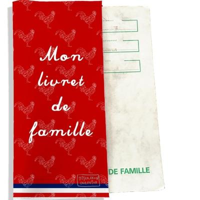 Protège livret de famille Rouge Collection Française