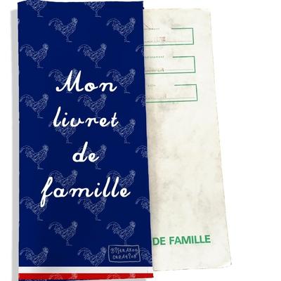 Protège livret de famille Bleu marine Collection Française