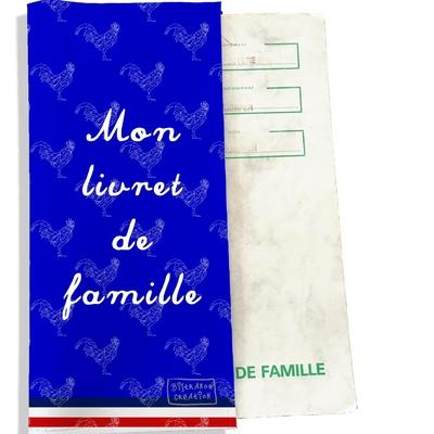 Protège livret de famille Bleu Collection Française