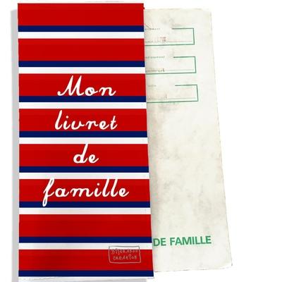 Protège livret de famille Bandes rouges Collection Française