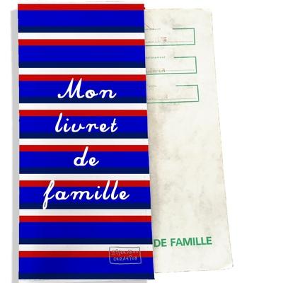 Protège livret de famille Bandes bleues Collection Française