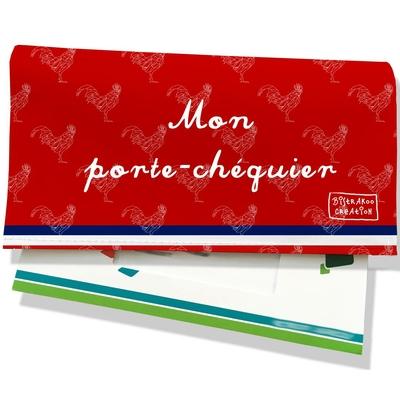 Porte-chéquier Rouge Collection Française