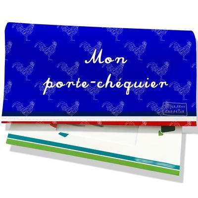 Porte-chéquier Bleu Collection Française