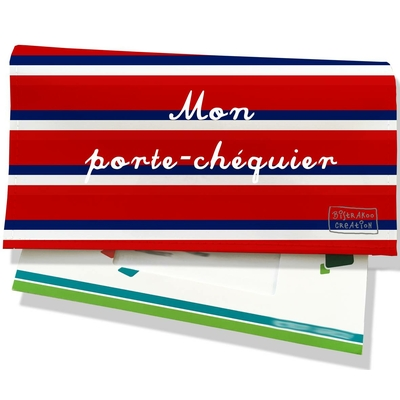 Porte-chéquier Bandes rouges Collection Française