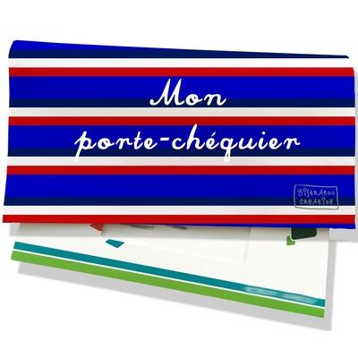 Porte-chéquier Bandes bleues Collection Française