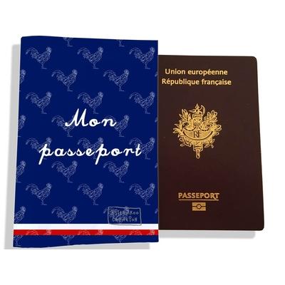 Protège passeport Bleu marine Collection Française
