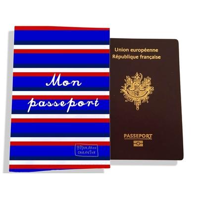 Protège passeport Bandes bleues Collection Française