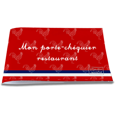 Porte-chéquier restaurant Rouge Collection Française