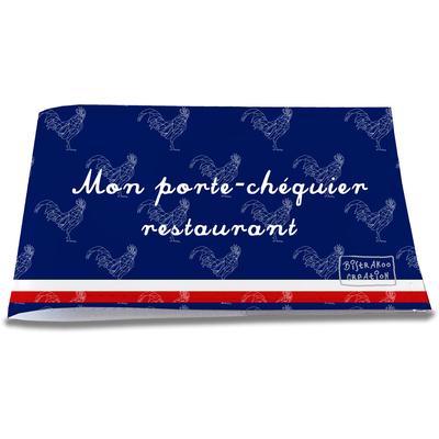 Porte-chéquier restaurant Bleu marine Collection Française