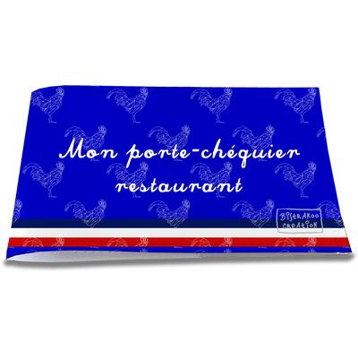 Porte-chéquier restaurant Bleu Collection Française