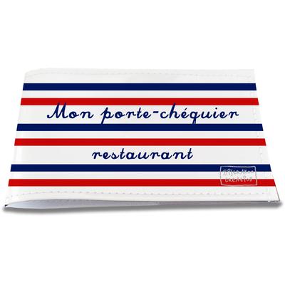 Porte-chéquier restaurant Rayures bleues et rouges Collection Française