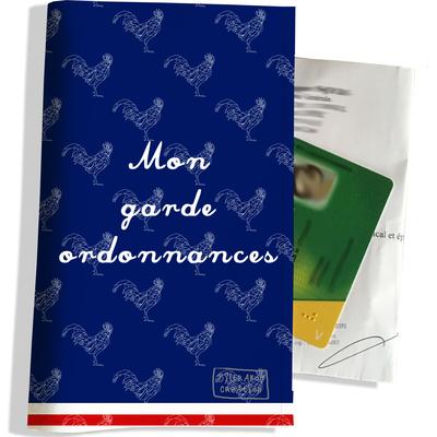 Porte ordonnance et carte vitale Bleu marine Collection Française