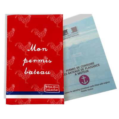 Porte permis bateau Rouge Collection Française