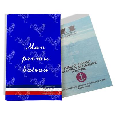 Porte permis bateau Bleu Collection Française