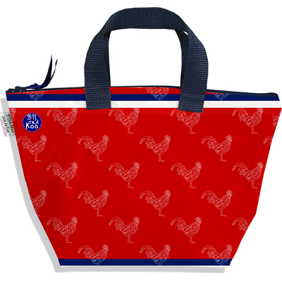Petit sac à main zippé rouge Collection Française