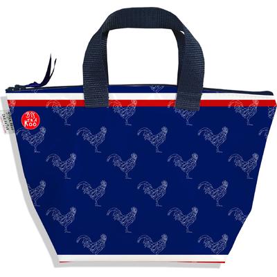 Petit sac à main zippé bleu marine Collection Française