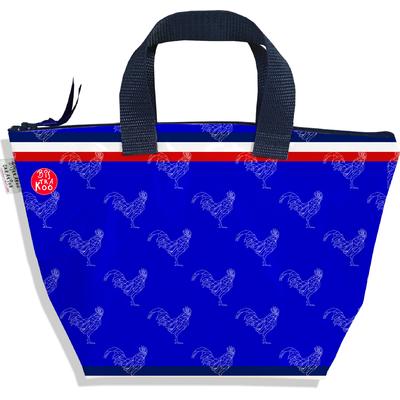 Petit sac à main zippé bleu Collection Française