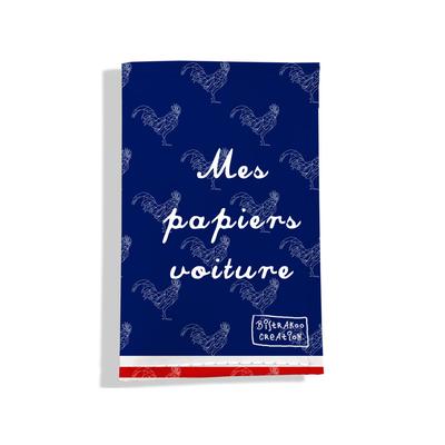 Porte-papiers de voiture Bleu marine Collection Française