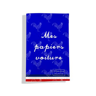 Porte-papiers de voiture Bleu Collection Française