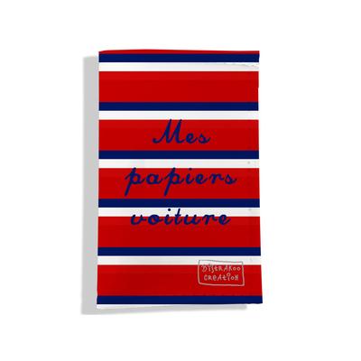 Porte-papiers de voiture Bandes rouges Collection Française