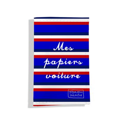 Porte-papiers de voiture Bandes bleues Collection Française
