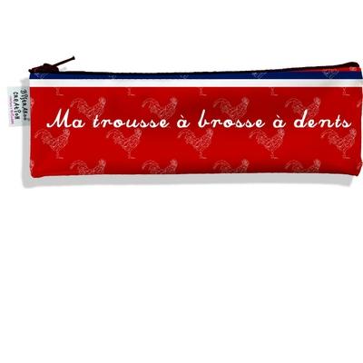 Trousse à brosse à dents Rouge Collection Française