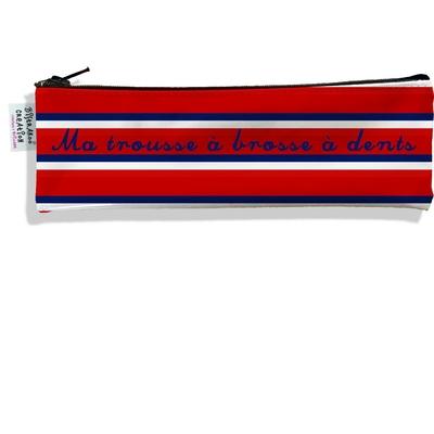 Trousse à brosse à dents Bandes rouges Collection Française