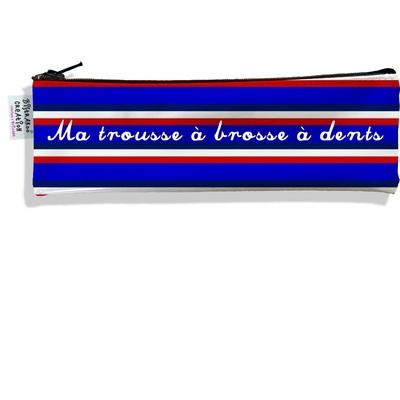 Trousse à brosse à dents Bandes bleues Collection Française