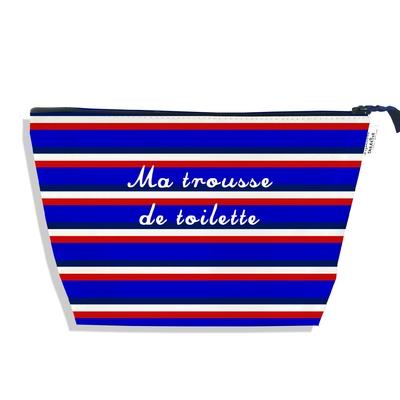 Trousse de toilette Bandes bleues Collection Française