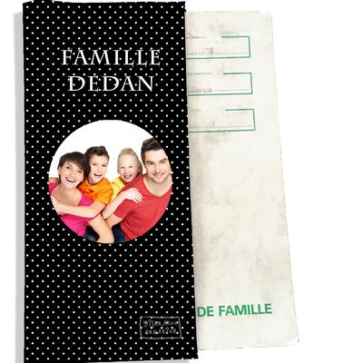 Protège livret de famille personnalisable Pois