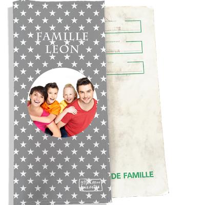 Protège livret de famille personnalisable Etoiles