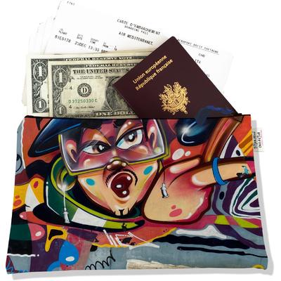Porte documents, Pochette voyage motif Graffiti Collection Capsule - Edition limitée à 5 exemplaires