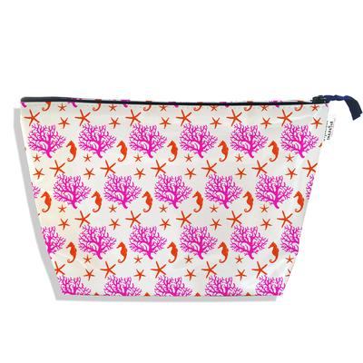 Trousse de toilette pour femme corail rose 3076-2017