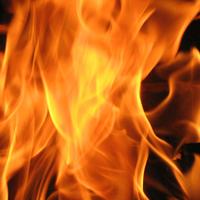 Kydex gelbe Flammen 080