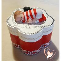 Boîte à dent de lait ou à dragées bébé garçon rugbyman  - au coeur des arts