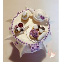 Sucrier ou pot à confiture Lilas - au coeur des arts