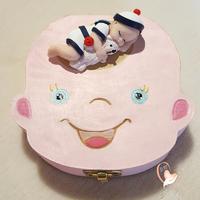 Boîte à dents de lait bébé Marin garçon et son ours - au cœur des arts