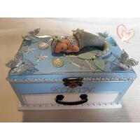 Boîte à musique bébé sirène bleue - au coeur des arts