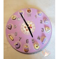 Horloge murale Lilas et Vanille - au coeur des arts