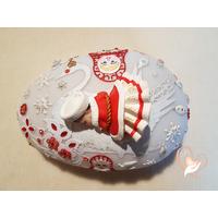 Veilleuse galet matriochka bebe fille - au coeur des arts